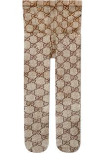 Gucci Meia-Calça Com Padronagem Gg - Marrom