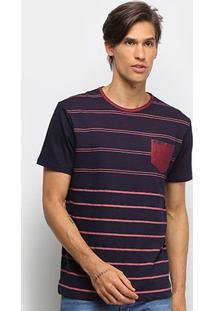 Camiseta Hd Horizon Masculina - Masculino-Preto+Vinho