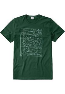 Camiseta Verde Escuro Slim Mapa Malwee