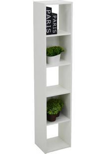 Estante Para Livros Torre 4 Prateleiras 1500 Branco - Falkk