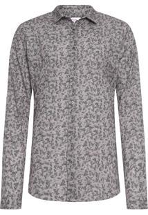Camisa Masculina Rose Bush - Cinza