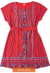 Vestido Vermelho Curto Com Amarração Wee!
