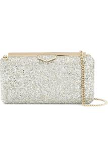 Jimmy Choo Clutch Ellipse - Dourado