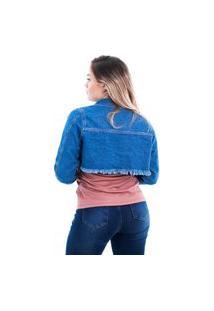 Jaqueta Jeans Feminina Arauto Modelagem Cropped