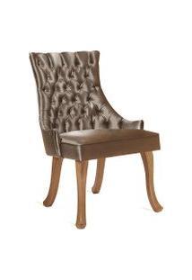 Cadeira Luis Xv 1102 Dourado Daf Marrom