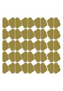 Adesivo De Parede Nuvens Douradas 45Un