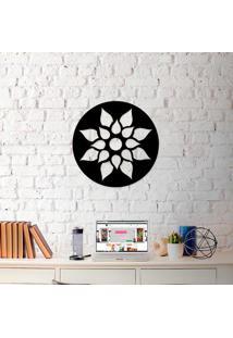 Escultura De Parede A Laser Mandala Flor