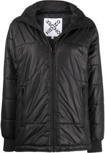 Kenzo Stitched Puffer Jacket - Preto