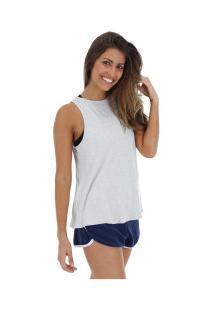 f377b7c8e3 ... Camiseta Regata Fila Knot - Feminina - Cinza Branco