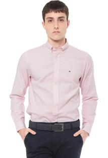 Camisa Tommy Hilfiger Regular Fit Basic Rosa