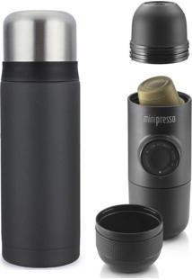 Combo Garrafa Térmica 750Ml Cafeteira Minipresso Ns Viktwa