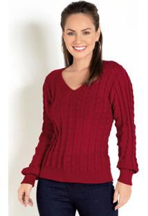 Blusa Tricot Marieva Vermelha