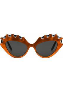 Gucci Eyewear Óculos De Sol Gatinho Bicolor - Preto