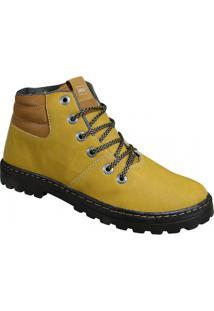 Bota Malbeck - Masculino-Amarelo Escuro
