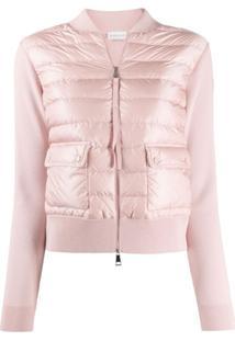 Moncler Slim Fit Puffer Jacket - Rosa