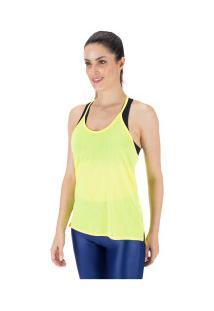 Camiseta Regata Oxer Alça Fina - Feminina - Amarelo
