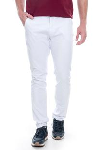 Calça Sarja Lemier Jeans Collection Slim Fit Branca