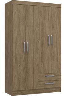 Guarda Roupa Solteiro Decibal Rp2420 Ametista 4 Portas Wood