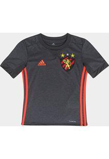 Camisa Sport Recife Infantil Ii 17/18 S/Nº Torcedor Adidas - Unissex