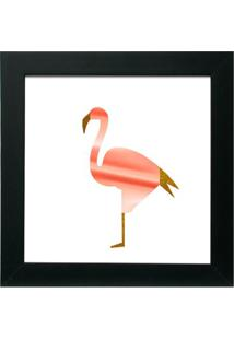 Quadro Decorativo Flamingo Preto
