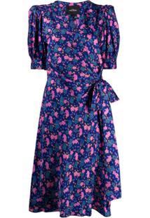 Marc Jacobs Vestido Envelope Com Estampa Floral - Azul