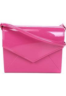 Bolsa Transversal Petite Jolie Flap Express Feminina - Feminino-Pink
