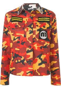 Miu Miu Camouflage Military Jacket - Marrom