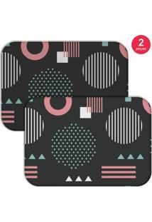 Jogo Americano Love Decor Geometric Pink Chumbo/Rosa - Kanui
