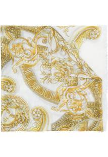 Versace Echarpe Estampada - Amarelo