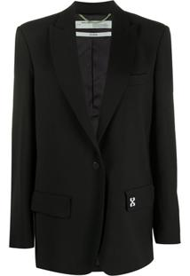 Off-White Blazer Oversized - Preto