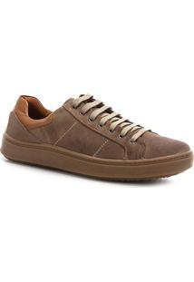 Sapatênis Shoestock Camurça Basic Masculino - Masculino-Areia