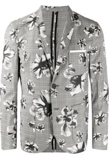 Neil Barrett Blazer Estampado - Cinza