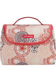 Bolsa Térmica Com Alça- Salmão & Vermelha- 16X22X12Cjacki Design
