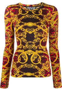 Versace Jeans Couture Blusa Slim Com Estampa - Vermelho