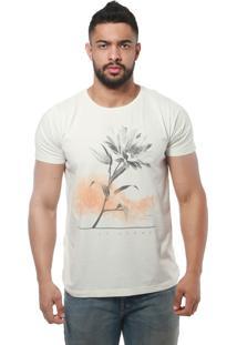 Camiseta St Hommes Flor De Girassol Cru