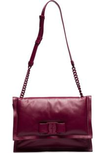 Salvatore Ferragamo Viva Bow-Detail Shoulder Bag - Roxo
