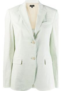 Theory Single-Breasted Blazer - Verde