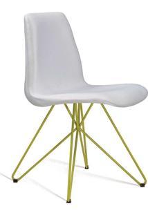 Cadeira De Jantar Eames Butterfly Amarelo E Cru