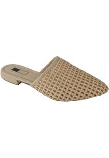 Mule Slipper Sapatoweb Tranças - Feminino-Bege