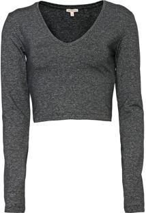 Blusa Cropped Calvin Klein Jeans Grafite - Kanui