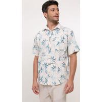 52581fbbc6384 Camisa Comfort Estampada Floral Lojas Renner