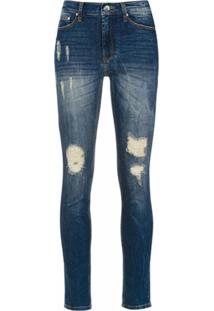 Amapô Calça Jeans Skinny 'Rocker One' - Azul