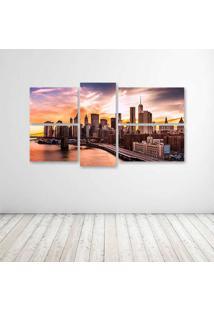 Quadro Decorativo - New York - Composto De 5 Quadros