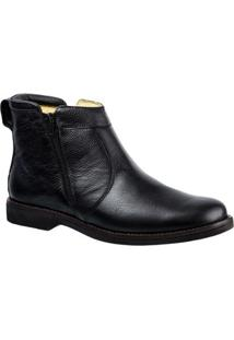 Bota Couro 8612 Doctor Shoes Masculina - Masculino-Preto