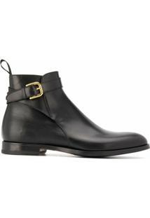 Scarosso Ankle Boot Taylor Com Fivela - Preto