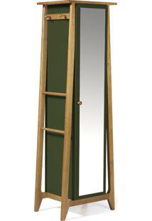 Armário Multiuso 1 Porta Stoka 981 Nogal/Verde Musgo - Maxima