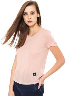 Camiseta Ellus 2Nd Floor Jersey Fine Rosa