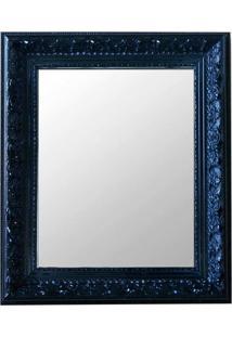 Espelho Moldura Rococó Raso 16144 Preto Art Shop