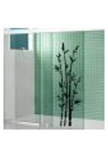 Adesivo Para Box De Banheiro Bambu - Medio