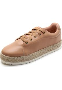 Tênis Sola Alta Dafiti Shoes Espadrille Caramelo